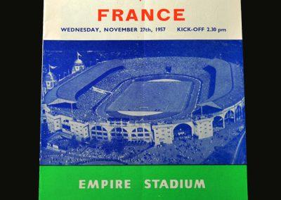 England v France 27.11.1957