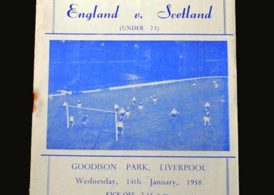 England v Scotland 15.01.1958 (Under 23)
