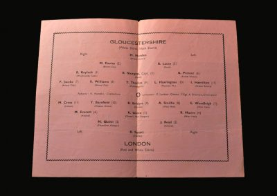 Gloucestershire v London 01.02.1958 (Youth Match)