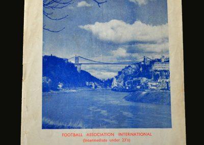 England v France 17.10.1956 (Under 23)