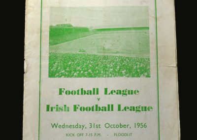 English League v Irish League 31.10.1956