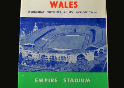 England v Wales 14.11.1956
