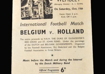 Belgium v Holland 11.10.1941