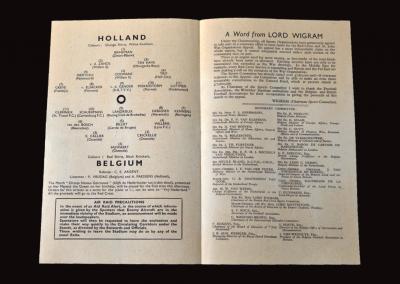 Belgium v Holland 11.10.1941 5-4