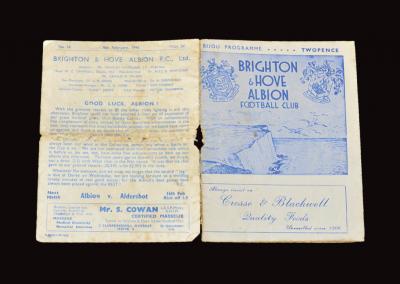 Brighton v Derby 09.02.1946 (FA Cup 5th Round 1st Leg)