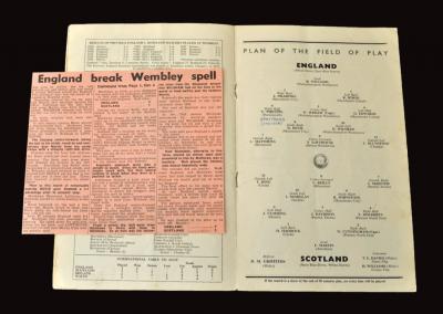England v Scotland 02.04.1955