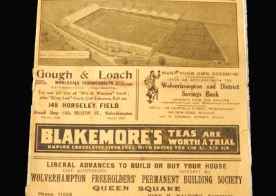 Fulham v Sheffield Utd 21.03.1936 (FA Cup Semi Final at Molineux)