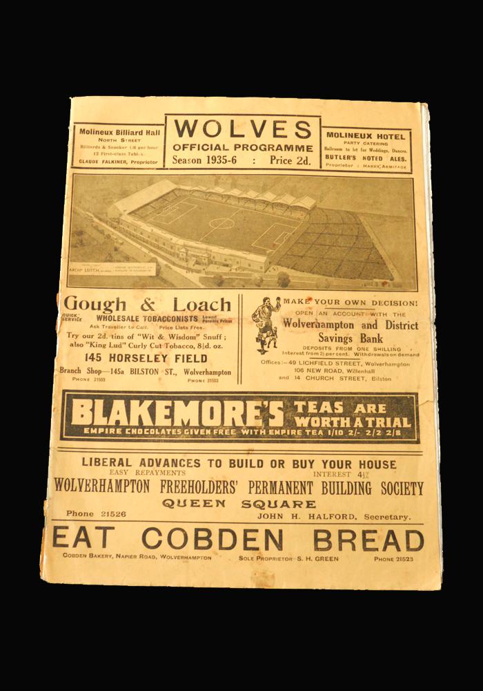 The Programmes – 1935/36 - 10 Footballs
