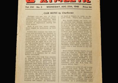 Charlton v Burnley 25.08.1948