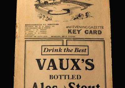 Charlton v Middlesbrough 25.09.1948