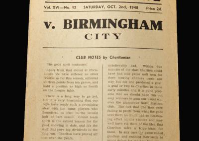Charlton v Birmingham 02.10.1948