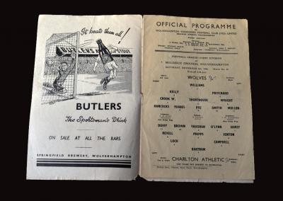 Charlton v Wolves 06.11.1948
