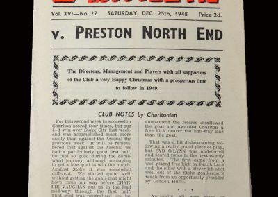 Charlton v Preston 25.12.1948