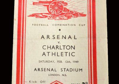 Charlton Reserves v Arsenal Reserves 12.02.1949
