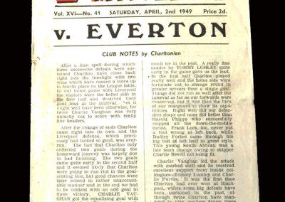 Charlton v Everton 02.04.1949