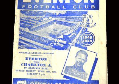 Charlton v Everton 18.04.1949