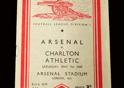 Charlton v Arsenal 07.05.1949