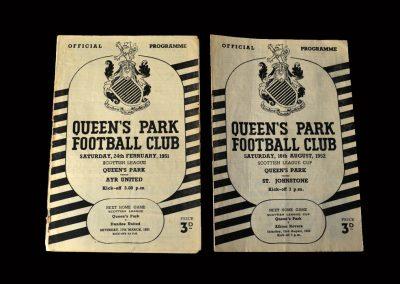 Queens Park v Ayr 24.02.1951 | Queens Park v St Johnstone 16.08.1952 (over 70 appearances for the famous Scottish amateurs)