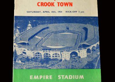 Bishop Auckland v Crook 10.04.1954 (Amateur Cup Final)