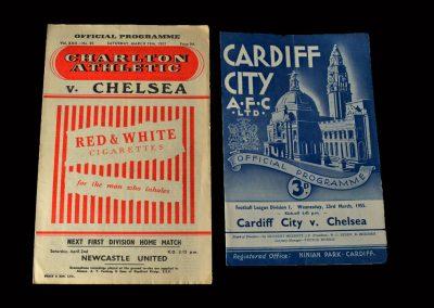 Charlton v Chelsea 19.03.1955 | Cardiff v Chelsea 23.03.1955