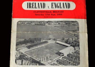 Northern Ireland v England 17.09.1955 (Amateur International)