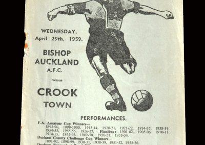 Bishop Auckland v Crook 29.04.1959