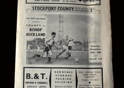 Stockport v Bishop Auckland 26.11.1960 (FA Cup 2nd Round)