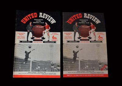 Man Utd v West Brom 14.09.1963 (Senior debut) - with foundation reprint version