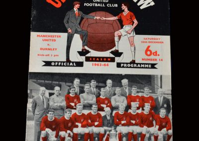 Man Utd v Burnley 28.12.1963 (2nd senior appearance and 1st goal)