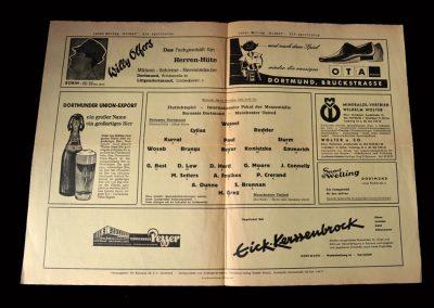 Dortmund v Man Utd 11.11.1964 (Inner Cities Cup 3rd Round)