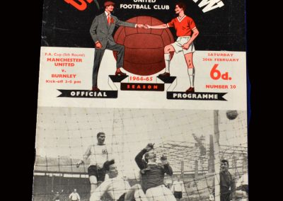 Man Utd v Burnley 20.02.1965 (FA Cup 5th Round)