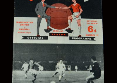 Man Utd v Arsenal 19.03.1966