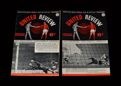 Man Utd v Sheff Wed 12.11.1966 | Man Utd v Sheff Utd 27.12.1966