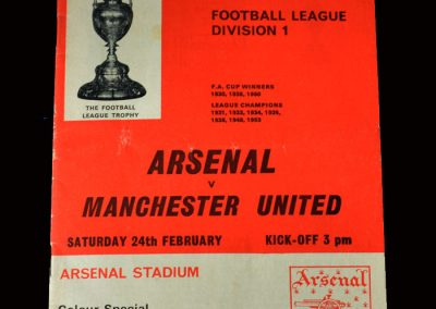 Arsenal v Man Utd 24.02.1968