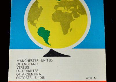 Man Utd v Estudiantes 16.10.1968