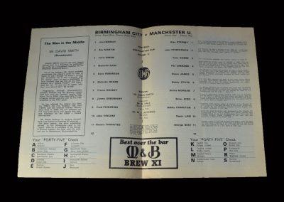 Birmingham v Man Utd 08.02.1969 (FA Cup 5th Round)