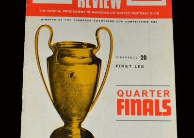 Man Utd v Rapid Vienna 28.02.1969 (European Cup Quarter Final)