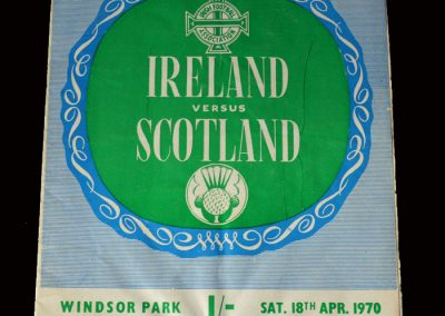 Northern Ireland v Scotland 18.04.1970