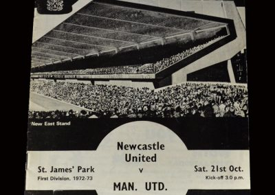 Newcastle v Man Utd 21.10.1972