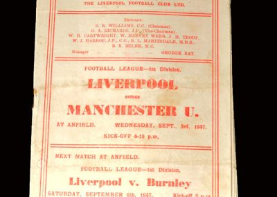 Liverpool v Man Utd 03.09.1947