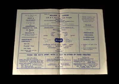 Shrewsbury v Scunthorpe 13.09.1947 (Hapgood for Shrewsbury)