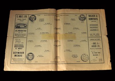 Salford Boys v Manchester Boys 01.10.1947