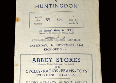 Leicestershire v Huntingdon 01.11.1947