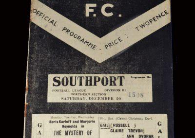 Barrow v Southport 20.12.1947