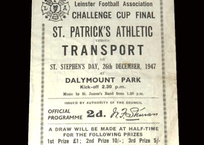 St Patricks v Transport 26.12.1947 (Leinster Cup)