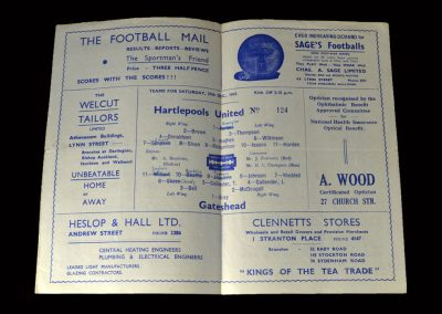 Hartlepool v Gateshead 27.12.1947