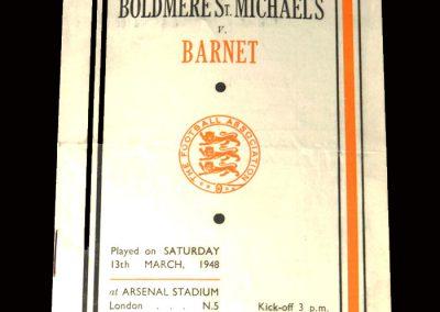 Boldmere v Barnet 13.03.1948 (FA Amateur Cup Semi Final)
