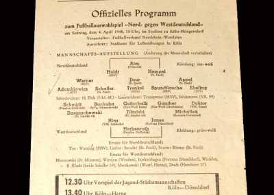 West Germany v North Germany 04.04.1948