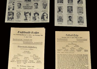West Germany v North Germany 04.04.1948 - Fussball Echo and Postcards