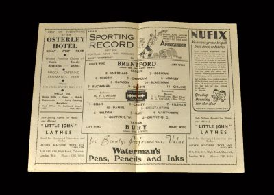 Brentford v Bury 17.04.1948